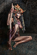 Body Framed Prints - Dryad III Framed Print by David April