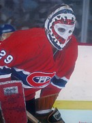 Canadiens Paintings - Dryden by Graham McLeod