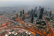 Dubai Photos - Duabi from above by Lars Ruecker
