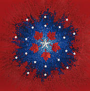 Fourth Of July Mixed Media Prints - Dual Citizenship 2 Print by First Star Art