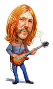 Celeb Painting Framed Prints - Duane Allman Framed Print by Art