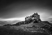 Black And White Photography Acrylic Prints - Duart Castle Acrylic Print by David Bowman