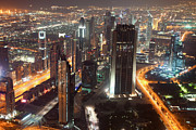 Fototrav Print - Dubai aerial city Skyline at night
