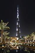 United Arab Emirates Prints - Dubai at Night Print by Lars Ruecker