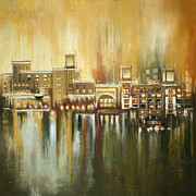 Expensive Painting Framed Prints - Dubai Monumental Art Framed Print by Corporate Art Task Force
