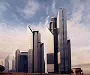 Dubai Skyline Print by Jelena Jovanovic