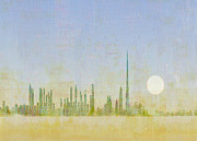 Cityscape Mixed Media Posters - Dubai Sunrise  Poster by Andy  Mercer