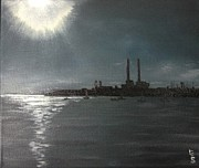 Dublin Painting Originals - Dublin bay by Les Duffy