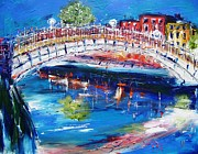 Halfpenny Prints - Dublin Bridge In Spring Print by Mary Cahalan Lee