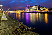 Samuel Photo Posters - Dublin Docklands at Night / Dublin Poster by Barry O Carroll