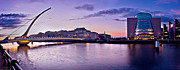Samuel Photo Framed Prints - Dublin Docklands Panorama / Dublin Framed Print by Barry O Carroll