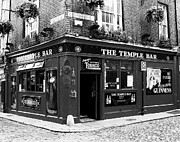 Baskets Framed Prints - Dublin Pub BW Framed Print by Mel Steinhauer