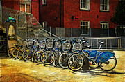 Jenny Rainbow - Dublin Streets. Bikes in a Row. Painting Collection