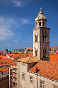Tiled Framed Prints - Dubrovnik Church Framed Print by Brian Jannsen