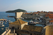 Yachts Prints - Dubrovnik old Town Harbor Print by Kiril Stanchev