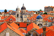 Dubrovnik Acrylic Prints - Dubrovnik Rooftops Acrylic Print by Saya Studios