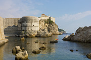 Dream Bay Prints - Dubrovnik view toward the old fortress city wall Print by Kiril Stanchev
