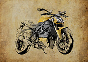 Norton Drawings Posters - Ducati Streetfighter 848 2012 Poster by Pablo Franchi
