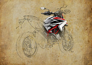 Transport Mixed Media - Ducati XII by Pablo Franchi
