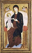 Jesus With Boy Framed Prints - Duccio Di Buoninsegna 1255-1318. Virgin Framed Print by Everett