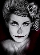 Sugar Skull Posters - Duchess Poster by Sheena Pike