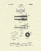 Patent Drawings Posters - Duck Call 1951 Patent Art Poster by Prior Art Design