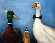 Nursery Rhyme Paintings - Duck Duck Goose by Leah Saulnier The Painting Maniac
