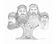 Duck Dynasty Framed Prints - Duck Dynasty Tree Framed Print by Shawn Stallings