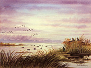 Waterfowl Paintings - Duck Hunting Companions by Bill Holkham