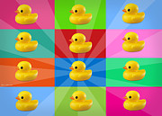 Shower Digital Art - Ducks  by Mark Ashkenazi