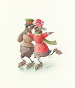 Kestutis Kasparavicius - Ducks on skates 01