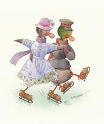 Kestutis Kasparavicius - Ducks on skates 10