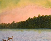 Ducks Paintings - Ducks on the Lake by Sharon Farber
