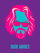 Dude Abides Purple Poster Print by Irina  March