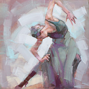 Dancing Girl Paintings - Duende... by Renata Domagalska