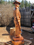 Carving Sculptures - Duke-3 by Dwayne  Davis