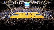 Duke Metal Prints - Duke Blue Devils Cameron Indoor Stadium Metal Print by Replay Photos