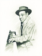 Leaders Drawings Prints - Duke Ellington Print by Gordon Van Dusen