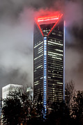 Charlotte Photo Prints - Duke Energy Center Print by Brian Young