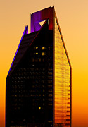 Charlotte Posters - Duke Energy Tower at sunset vertical Poster by Patrick Schneider