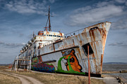 Passenger Ferry Prints - Duke of Graffiti Print by Adrian Evans
