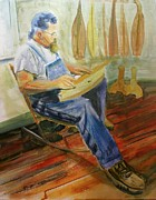 Player Originals - Dulcimer Player by Randy Bell