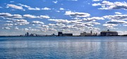 Clear Sky Mixed Media - Duluth Harbor  by Todd and candice Dailey