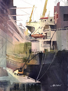 Cargo Paintings - Duluth Harbor by Kris Parins