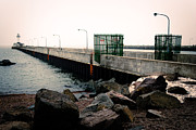 Duluth Art - Duluth North Pier Horizon by Shutter Happens Photography