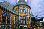 Duluth Art - Duluth railroad station by Candice Theis