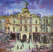 Independence Painting Originals - Dumskaya Square by Anastasiia Grygorieva