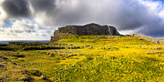 Ancient Ruins Posters - Dun Aonghasa - Iron Age Irish Ruins Poster by Mark E Tisdale