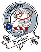 Genealogy Prints - Dunbar Clan Badge Print by Heraldry