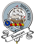 Genealogy Prints - Duncan Clan Badge Print by Heraldry